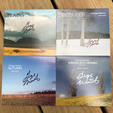 George Winston - 4 Autographed CDs