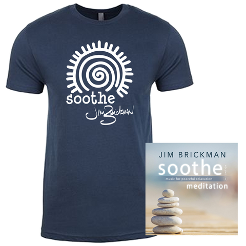 Jim Brickman - Soothe, Volume 3: Meditation & T-Shirt Bundle