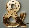 Cirkuslampan Brass or Copper - Letters & Signs