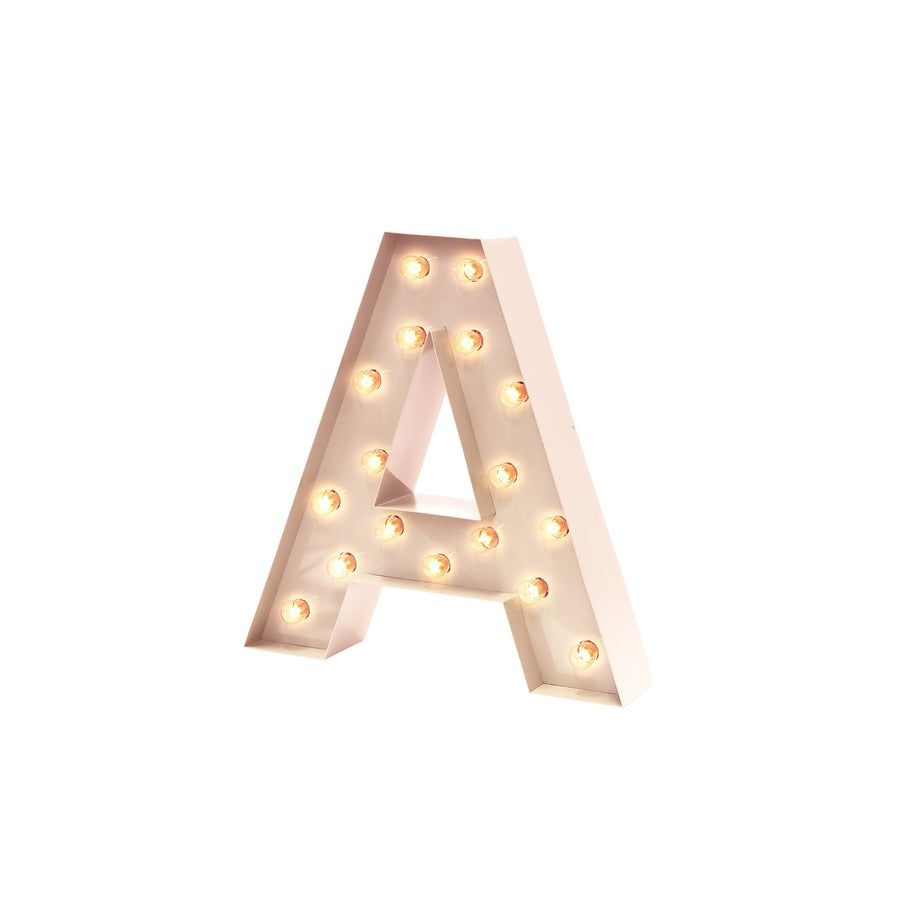 Letter lamp A in the color