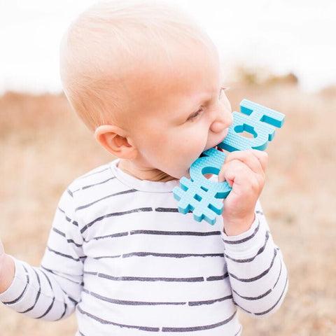 TeetheWord Teethers - Ouch Blue