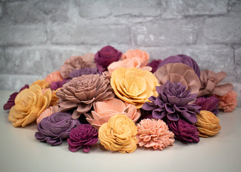 Sola Wood Flowers - Amarillo Sky Assortment (50 Pack)