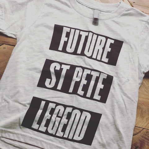 Future St Pete Legend Kids Tri-Blend Tee Large (10/12)