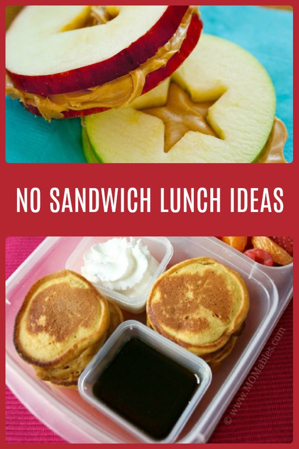No Sandwich School Lunch Ideas For Kids