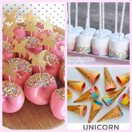 Unicorn Birthday party cake and food, cheap unicorn birthday party on a budget