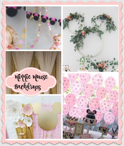 Minnie Mouse Dress Background Photo Ideas