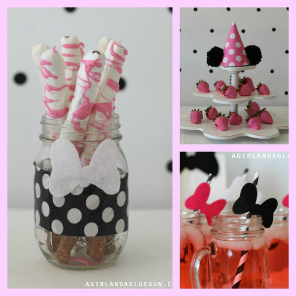 Minnie Mouse Birthday Party Ideas, Minnie Mouse Cake and Party Decoration