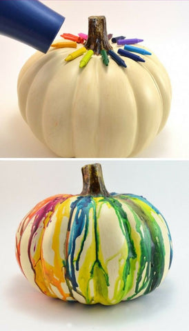 DIY Fall Halloween Craft Ideas for Kids Pumpkin Crayon Melts