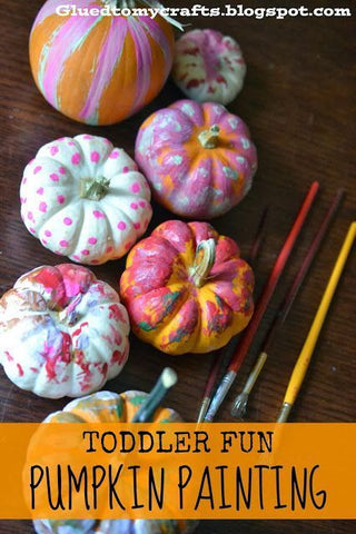 DIY Fall Halloween Kid Craft Ideas Pumpkin Painting