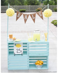 lemonade stands for kids, fun summer craft ideas, unique baby girl clothes, little girl outfits