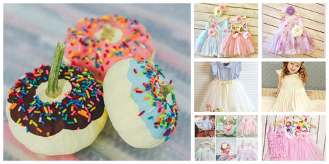 Donut Pumpkin Ideas and Donut Girls Birthday Party Ideas and Dress