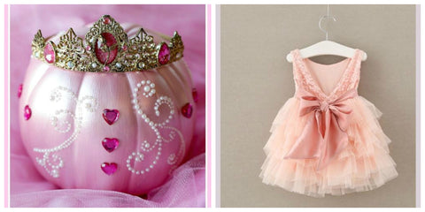 Disney Princess Pumpkin Ideas and Princess Dress for Girls Birthday Parties