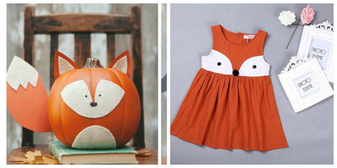 Fox Girl Toddler Dress and Fox Pumpkin Ideas