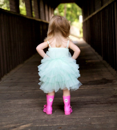 teal aqua girl tutu princess dress