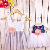 Ruffles Abound Matching Sister Dresses