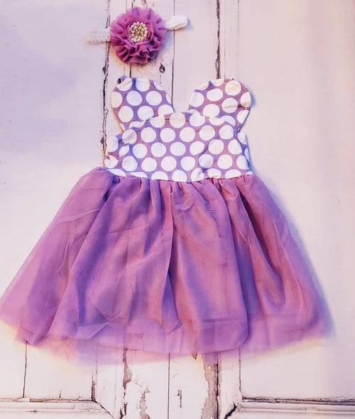 Minnie Dress Mouse Dot Purple Tulle