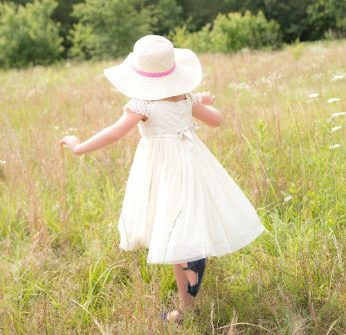 cream flower girl country dress ideas for toddlers