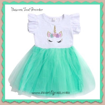 Unicorn Dress of Teal