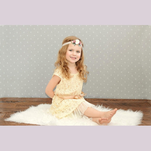 Lace in Ivory Girl Dress