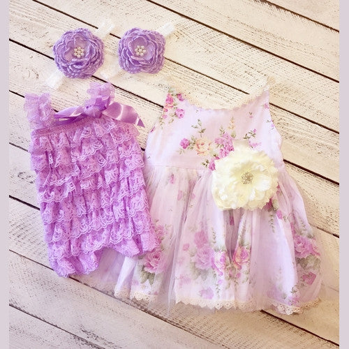 Lavender Fields Sister Set Dresses and Romper