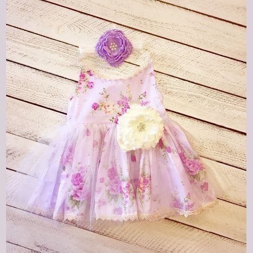 Piper's Floral Tulle Dress