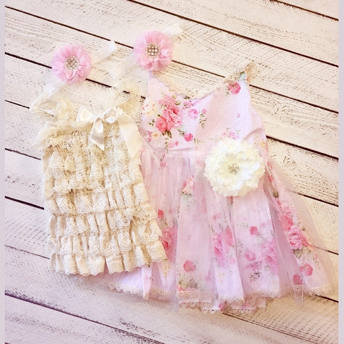 Pink Fields Sister Set Dresses and Romper