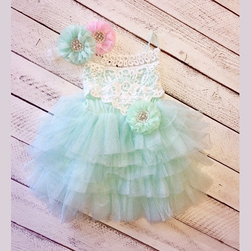 Samantha's Teal Tulle Dress