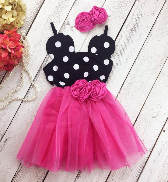 Minnie Mouse Birthday Dot Dress for Parties