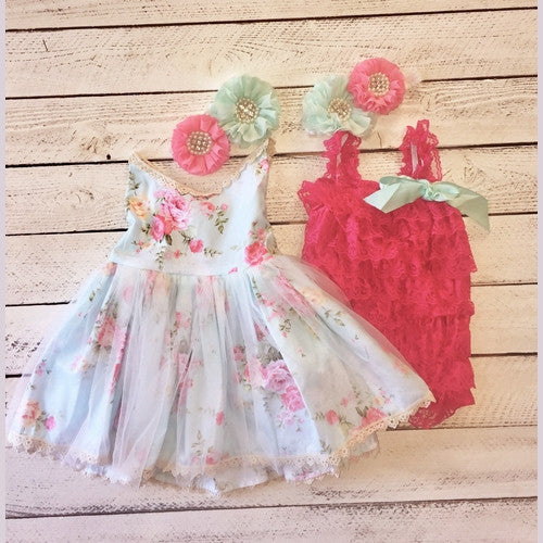 Poppy Sister Set  with Romper