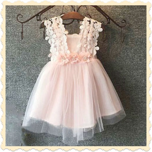 Pink Princess Flower Dress