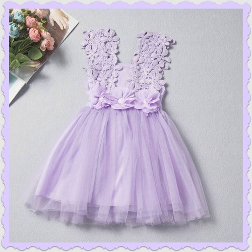 Purple Princess Flower Dress