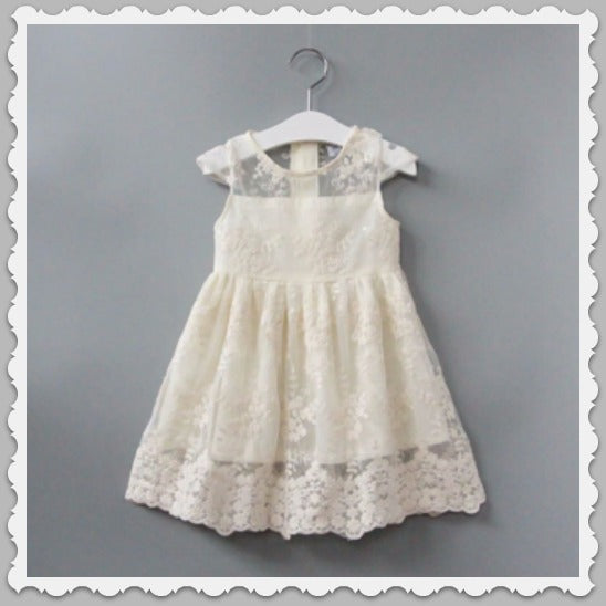 Matilda Off White Lace Girls Birthday Dress