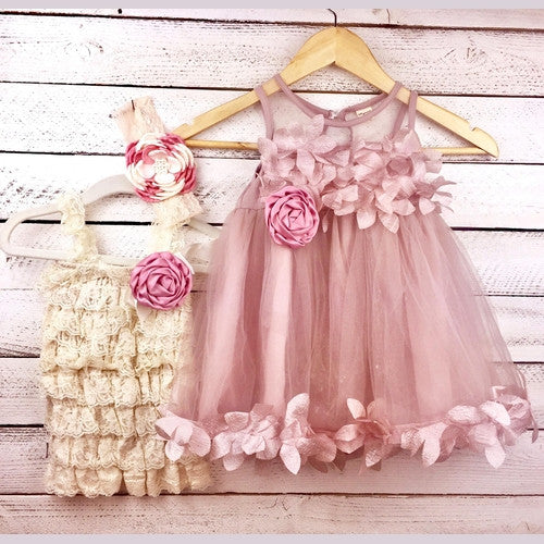 Floral Burst Matching Sister Dress Outfits