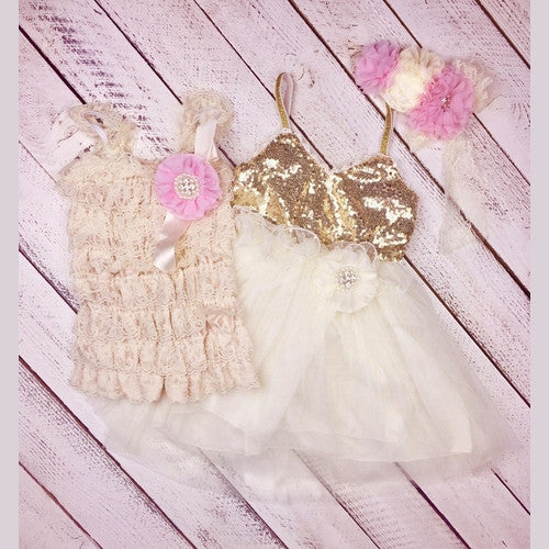 Goldie and Glitter Matching Sister Dress Outfits
