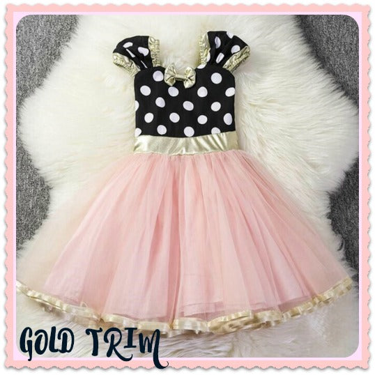 Minnie Dot Mouse Dress Choose Your Style Light Pink