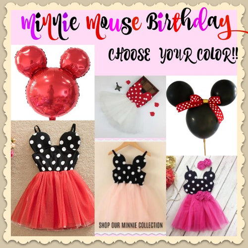Minnie Ears Dot Dress - Choose Your Color