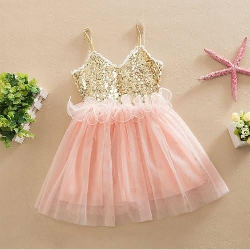 Pink Tulle Flower Girl Wedding Dress