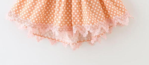 Girl polka dot dress, toddler birthday dress