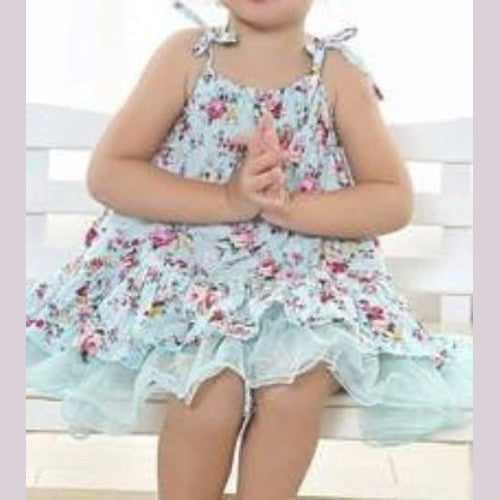 Infant Blue Floral Baby Girl Dress