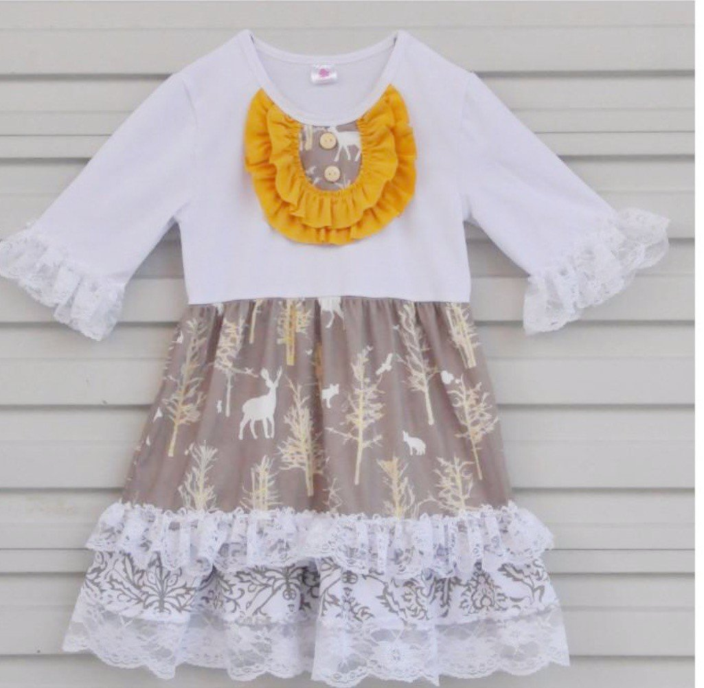 Ruffle Fall Persnickety Clothing for Girl and Toddlers