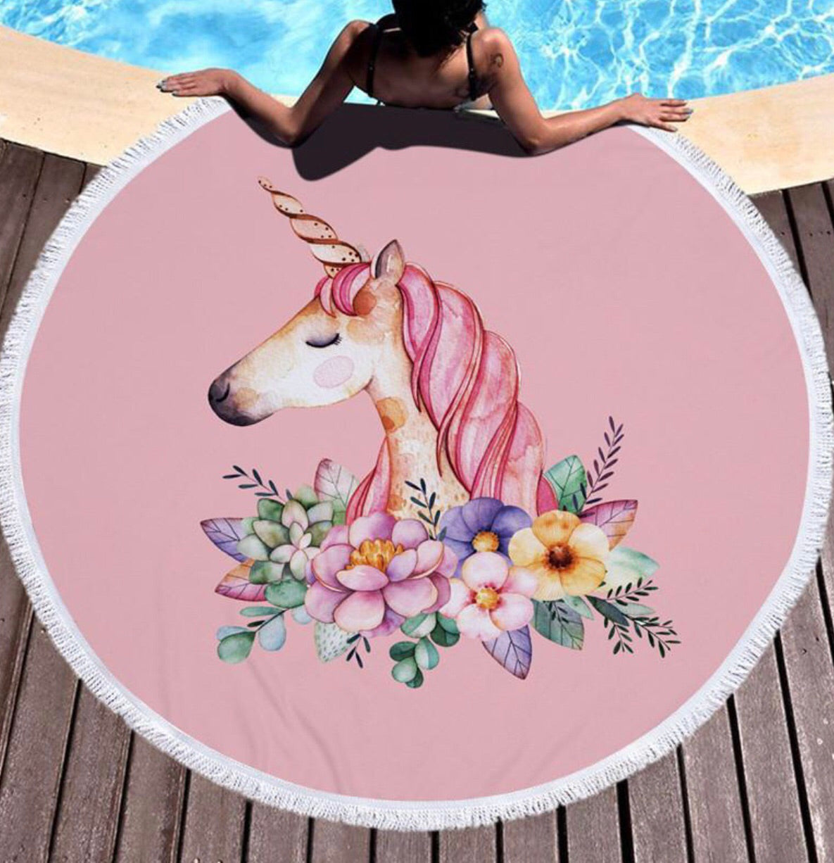 Unicorn Beach Blanket