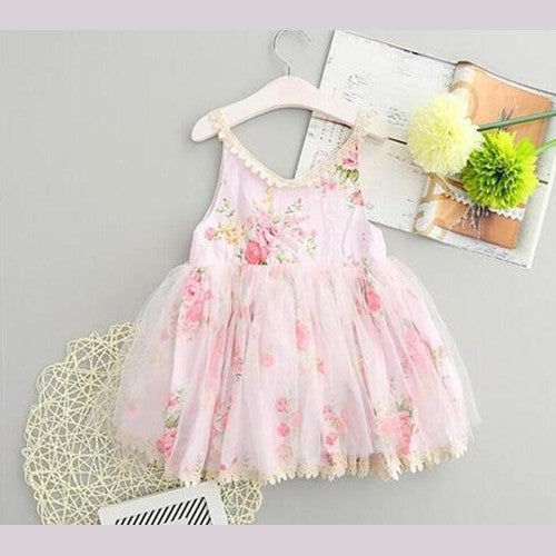Field of Floral Dress Pink