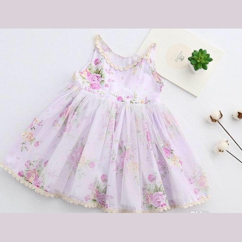 Becca's Floral Girl and Toddler Dress Lavender