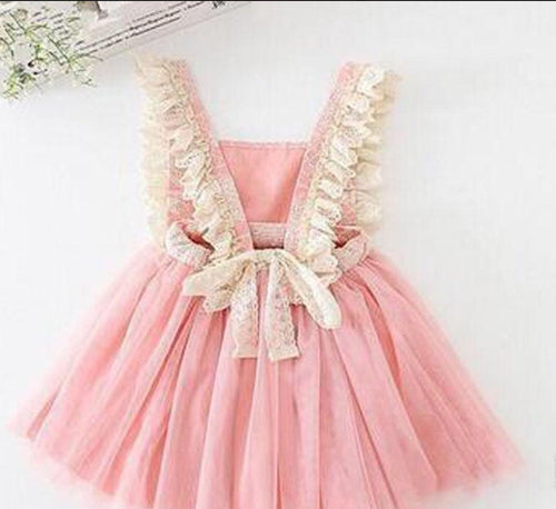 Pink Scarlett's Ruffle Girl and Toddler Dress