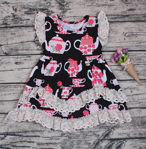Tea Pot Party Ruffle Dress