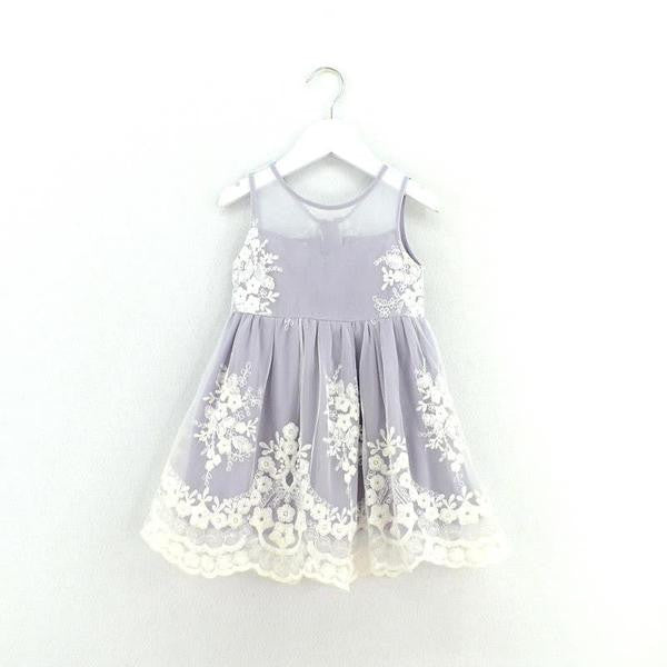 lavender and grey girl dress