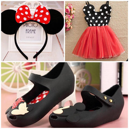 Red Minnie Mouse Collection Set