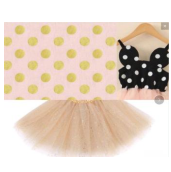 Minnie Birthday Mouse Dress PINK/GOLD