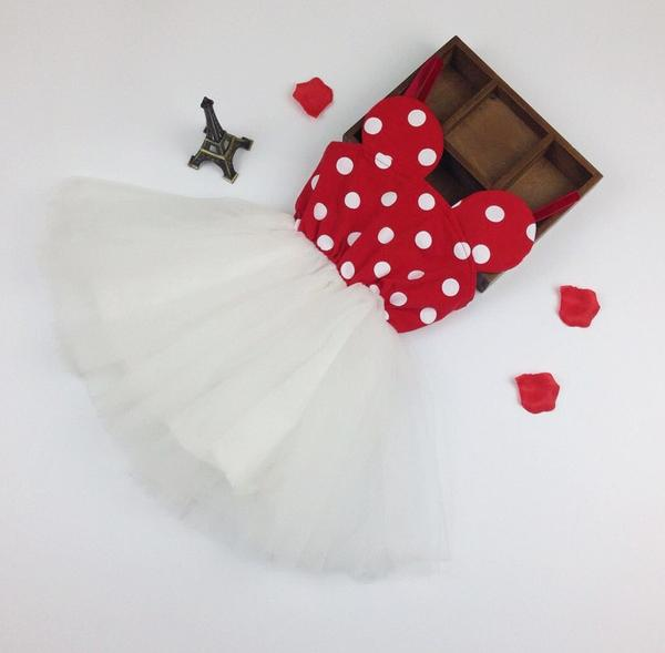 Minnie Mouse Toddler Girl Birthday Dress, Shoes and headband