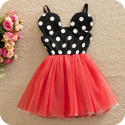 Minnie Mouse Girl Birthday Party Dress Red with dot - Marili Jean Girlu0027s Clothing Boutique & Minnie Mouse Dress Red with dot